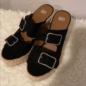BP chunky platform sandals heels